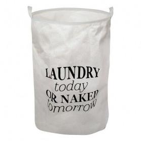 Korb für schmutzige Wäsche Weiß 111089 BigBuy Home - 1