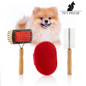 Set de Cepillos para Perros Collection Pet Prior (3 Piezas) BigBuy Pets - 1