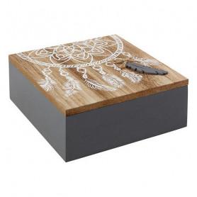Decorative box 114080 (18 x 7 x 18 cm) BigBuy Home - 1