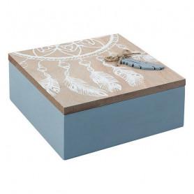 Decorative box 114073 (15 x 6 x 15 cm) BigBuy Home - 1
