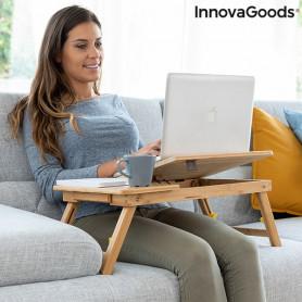 Bamboo Folding Side Table Lapwood InnovaGoods InnovaGoods - 1