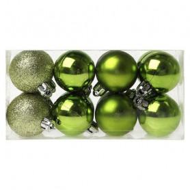 Ёлочные шарики Christmas Planet 6479 4 cm (16 uds) Зеленый BigBuy Christmas - 1