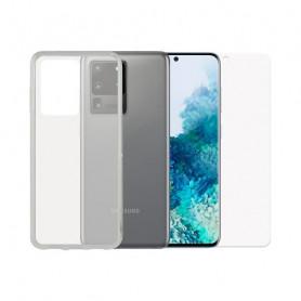 Bildschirmschutz aus Hartglas fürs Handy + Hülle für Handys Samsung Galaxy S20 Ultra Contact Contact - 1