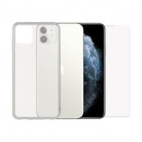 Tempered Glass Mobile Screen Protector + Mobile Case Iphone 11 Contact Contact - 1