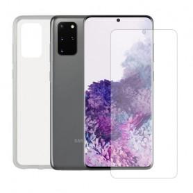 Bildschirmschutz aus Hartglas fürs Handy + Hülle für Handys Samsung Galaxy S20+ Contact Contact - 1