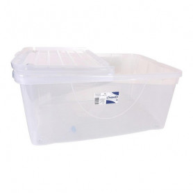 Storage Box with Lid Tontarelli Plastic Transparent Tontarelli - 1