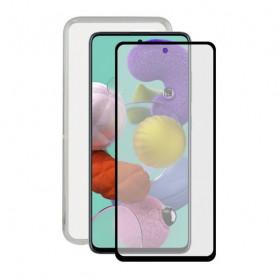 Protettore Schermo Vetro Temprato per Cellulare + Custodia per Cellulare Samsung Galaxy A51 Contact Contact - 1