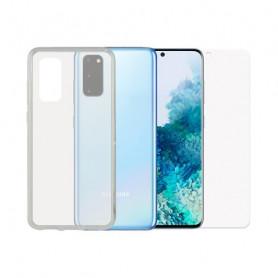 Protettore Schermo Vetro Temprato per Cellulare + Custodia per Cellulare Samsung Galaxy S20 Contact Contact - 1