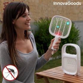 2 in 1 Rechargeable Mosquito Repellent Lamp and Insect-killing Racquet Swateck InnovaGoods InnovaGoods - 1