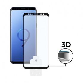 Protector de Pantalla Cristal Templado para Móvil Galaxy S9 3D Negro BigBuy Tech - 1