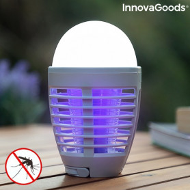 2-in-1 Rechargeable Mosquito Repellent Lamp with LED Kl Bulb InnovaGoods InnovaGoods - 1