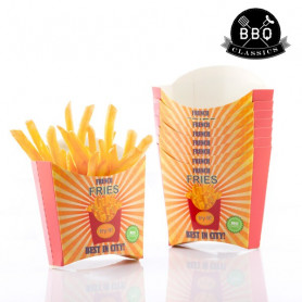 BBQ Classics Set of French Fry Boxes (Pack of 8) BigBuy BBQ - 1