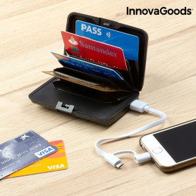 InnovaGoods Security & Power Bank Wallet InnovaGoods - 1