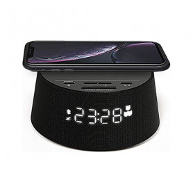Alarm Clock with Wireless Charger Philips TAPR702/12 FM Bluetooth Black Philips - 1