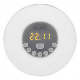 Clock-Radio Denver Electronics CRLB-400 FM Bluetooth LED White Denver Electronics - 1