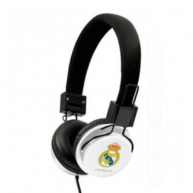 Headphones with Headband Real Madrid C.F. White Black Real Madrid C.F. - 1