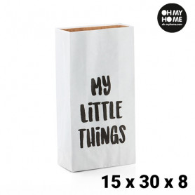 Busta di Carta Piccola Oh My Home (15 x 30 x 8 cm) BigBuy Home - 1