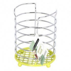 Cutlery Drainer Confortime Metal Green (11 X 11 x 15 cm) Confortime - 1