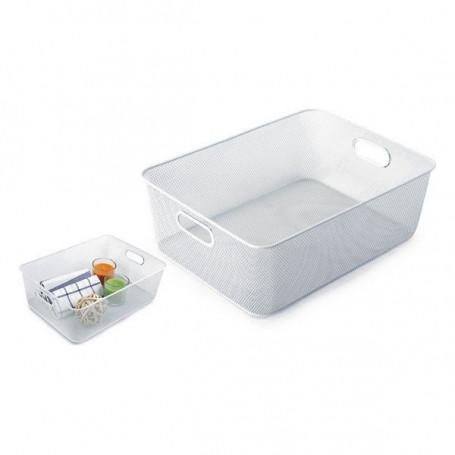 Contenitore per Sistemare Multiuso Confortime Metallo Bianco (37 X 27 x 13 cm) Confortime - 1