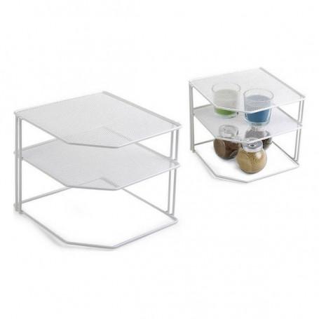 Contenitore per Sistemare per Mobile da Cucina Confortime Metallo Bianco Confortime - 1