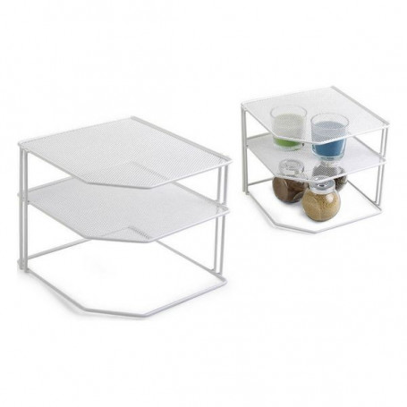 Kitchen Cupboard Organiser Confortime Metal White Confortime - 1