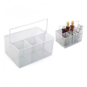 Contenitore per Sistemare Multiuso Confortime Metallo Bianco (25 X 18 x 12 cm) Confortime - 1