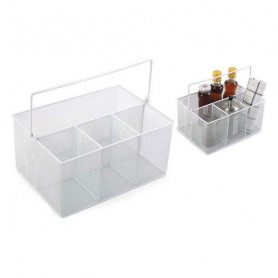 Mehrzweck-Organizer Confortime Metall Weiß (25 X 18 x 12 cm) Confortime - 1