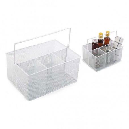 Organisateur polyvalent Confortime Métal Blanc (25 X 18 x 12 cm) Confortime - 1