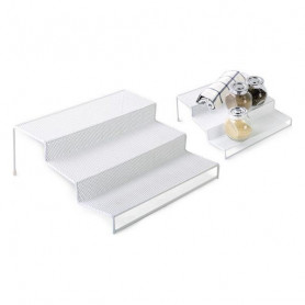 Mehrzweck-Organizer Confortime Metall Weiß (26,5 x 25,5 x 10,5 cm) Confortime - 1