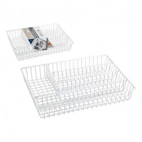 Cutlery Organiser Confortime Metal White (36 X 26 x 4,5 cm) Confortime - 1