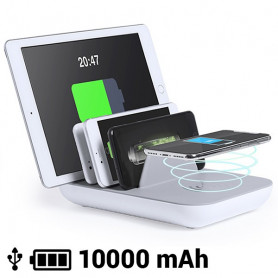 Cargador Inalámbrico para 5 Dispositivos 10000 mA 145768 BigBuy Tech - 1