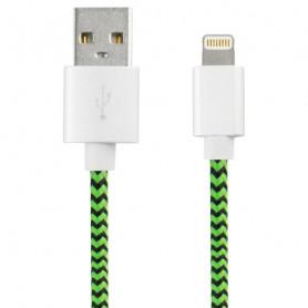 Câble USB vers Lightning KSIX Sport 1 m Vert Noir KSIX - 1