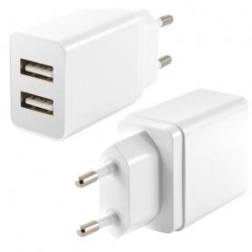 Cargador de Pared KSIX 2 USB 2.4A Blanco KSIX - 1