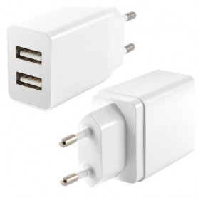 Wall Charger KSIX 2 USB 2.4A White KSIX - 1