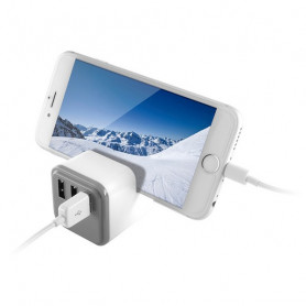 Chargeur mural KSIX 3 USB Blanc KSIX - 1