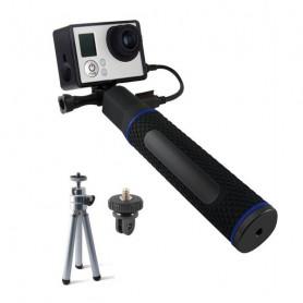 Selfie Stick with Power Bank for Sports Camera KSIX 5200 mAh Black KSIX - 1