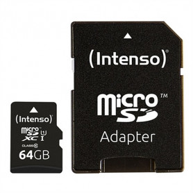 Micro SD Memory Card with Adaptor INTENSO 34234 UHS-I XC Premium Black INTENSO - 1