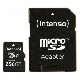 Micro SD Memory Card with Adaptor INTENSO 3423492 256 GB Black INTENSO - 1