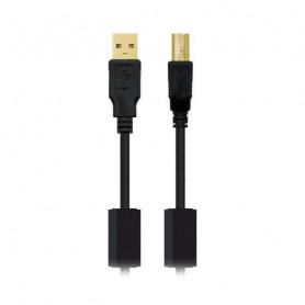 USB 2.0 A to USB B Cable NANOCABLE 10.01.120 Black NANOCABLE - 1