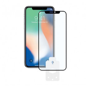 Tempered Glass Mobile Screen Protector Iphone X, Xs KSIX 2.5D Black KSIX - 1