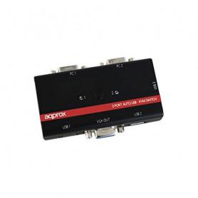 approx KVMUSB2PA2 KVM Switch KVM 2p USB+Audio C/In approx! - 1