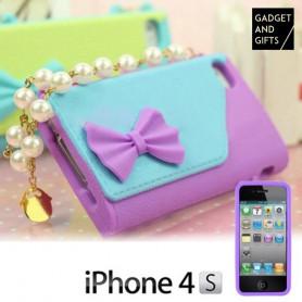 Handtaschenhülle mit Perlenkette für iPhone BigBuy Tech - 1