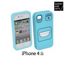 Silikonhülle mit Gesicht für iPhone BigBuy Tech - 1