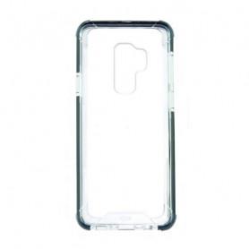 Custodia per Cellulare Samsung Galaxy S9+ KSIX Flex Armor TPU Policarbonato Nero Trasparente KSIX - 1