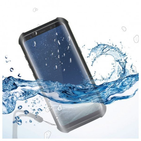 Custodia Subacquea Samsung Galaxy S8+ KSIX Aqua Case Nero Trasparente KSIX - 1