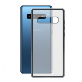 Handyhülle Samsung Galaxy S10 KSIX Flex Metal TPU Durchsichtig Grau Metallic KSIX - 1