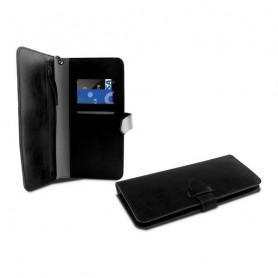 """Custodia Universale a Libro per Cellulare Smartphone 5,5"""" KSIX Wallet Nero KSIX - 1"""