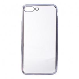 Handyhülle Iphone 7 Plus/8 Plus Contact Flex Metal TPU Durchsichtig Grau Metallic Contact - 1