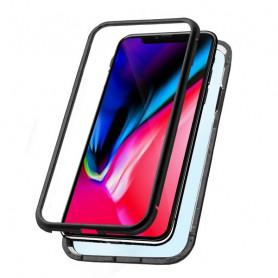 Mobile cover Iphone Xs Max KSIX Magnetic (2 pcs) Black KSIX - 1