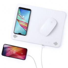 Mat with Qi Wireless Charger Bluetooth 4000 mAh 2W White 146126 BigBuy Tech - 1